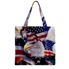 United States Of America Images Independence Day Zipper Grocery Tote Bag