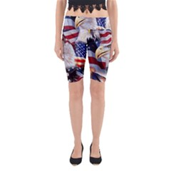 United States Of America Images Independence Day Yoga Cropped Leggings