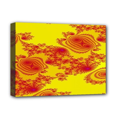 Floral Fractal Pattern Deluxe Canvas 16  x 12