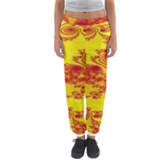 Floral Fractal Pattern Women s Jogger Sweatpants