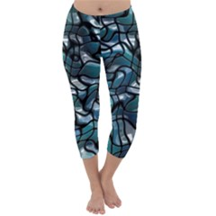 Old Spiderwebs On An Abstract Glass Capri Winter Leggings