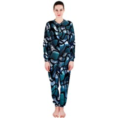 Old Spiderwebs On An Abstract Glass OnePiece Jumpsuit (Ladies)