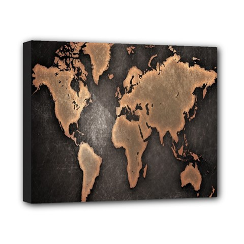 Grunge Map Of Earth Canvas 10  x 8