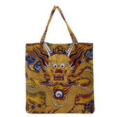 Chinese Dragon Pattern Grocery Tote Bag