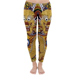 Chinese Dragon Pattern Classic Winter Leggings