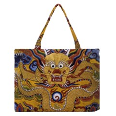 Chinese Dragon Pattern Medium Zipper Tote Bag