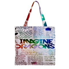 Imagine Dragons Quotes Zipper Grocery Tote Bag