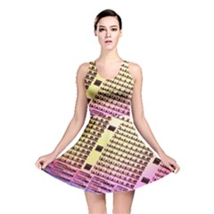 Optics Electronics Machine Technology Circuit Electronic Computer Technics Detail Psychedelic Abstract Reversible Skater Dress