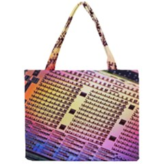 Optics Electronics Machine Technology Circuit Electronic Computer Technics Detail Psychedelic Abstract Mini Tote Bag