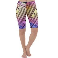Optics Electronics Machine Technology Circuit Electronic Computer Technics Detail Psychedelic Abstract Cropped Leggings
