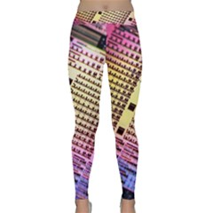 Optics Electronics Machine Technology Circuit Electronic Computer Technics Detail Psychedelic Abstract Classic Yoga Leggings