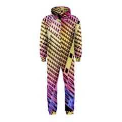 Optics Electronics Machine Technology Circuit Electronic Computer Technics Detail Psychedelic Abstract Hooded Jumpsuit (Kids)