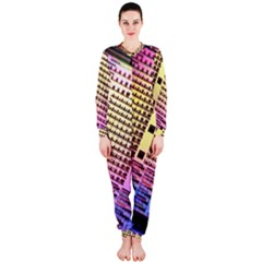 Optics Electronics Machine Technology Circuit Electronic Computer Technics Detail Psychedelic Abstract OnePiece Jumpsuit (Ladies)