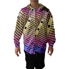 Optics Electronics Machine Technology Circuit Electronic Computer Technics Detail Psychedelic Abstract Hooded Wind Breaker (Kids)