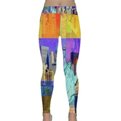 New York City The Statue Of Liberty Classic Yoga Leggings