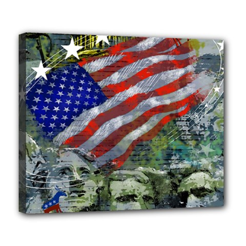 Usa United States Of America Images Independence Day Deluxe Canvas 24  x 20