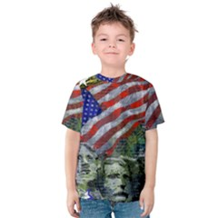 Usa United States Of America Images Independence Day Kids  Cotton Tee