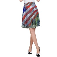 Usa United States Of America Images Independence Day A-Line Skirt