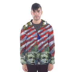 Usa United States Of America Images Independence Day Hooded Wind Breaker (Men)