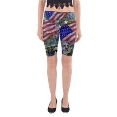 Usa United States Of America Images Independence Day Yoga Cropped Leggings