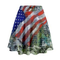 Usa United States Of America Images Independence Day High Waist Skirt