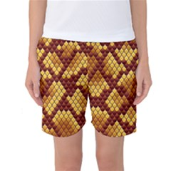 Snake Skin Pattern Vector Women s Basketball Shorts