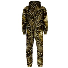 Gold Roman Shield Costume Hooded Jumpsuit (Men)