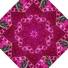 Pink Batik Cloth Fabric Golf Umbrellas