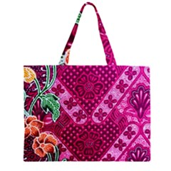 Pink Batik Cloth Fabric Large Tote Bag