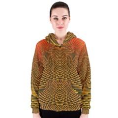 Fractal Pattern Women s Zipper Hoodie