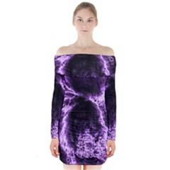 Space Long Sleeve Off Shoulder Dress