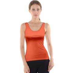 Trendy Basics   Trend Color Flame Tank Top
