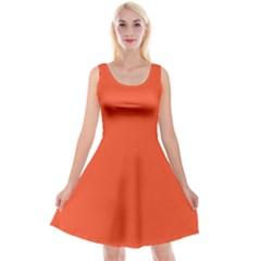 Trendy Basics   Trend Color Flame Reversible Velvet Sleeveless Dress