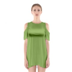 Trendy Basics   Trend Color Greenery Shoulder Cutout One Piece