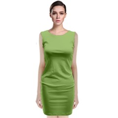 Trendy Basics   Trend Color Greenery Classic Sleeveless Midi Dress