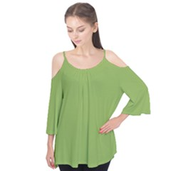 Trendy Basics   Trend Color Greenery Flutter Tees