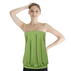 Trendy Basics   Trend Color Greenery Strapless Top