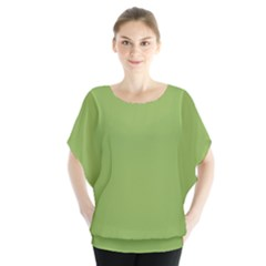 Trendy Basics   Trend Color Greenery Blouse