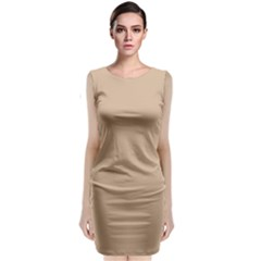 Trendy Basics   Trend Color Hazelnut Classic Sleeveless Midi Dress