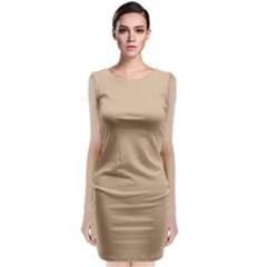Trendy Basics   Trend Color Hazelnut Sleeveless Velvet Midi Dress