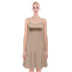 Trendy Basics   Trend Color Hazelnut Spaghetti Strap Velvet Dress