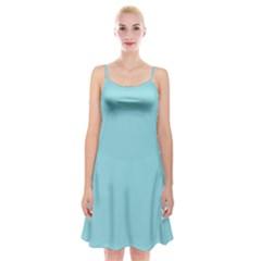 Trendy Basics   Trend Color Island Paradise Spaghetti Strap Velvet Dress