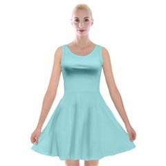 Trendy Basics   Trend Color Island Paradise Velvet Skater Dress