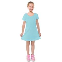 Trendy Basics   Trend Color Island Paradise Kids  Short Sleeve Velvet Dress