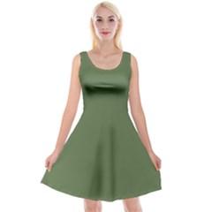 Trendy Basics   Trend Color Kale Reversible Velvet Sleeveless Dress