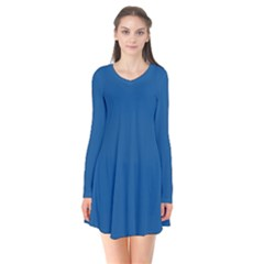 Trendy Basics   Trend Color Lapis Blue Flare Dress