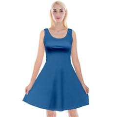 Trendy Basics   Trend Color Lapis Blue Reversible Velvet Sleeveless Dress