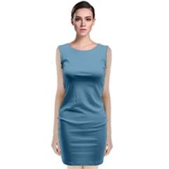 Trendy Basics   Trend Color Niagara Sleeveless Velvet Midi Dress