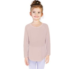 Trendy Basics   Trend Color Pale Dogwood Kids  Long Sleeve Tee