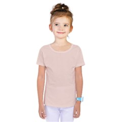 Trendy Basics   Trend Color Pale Dogwood Kids  One Piece Tee